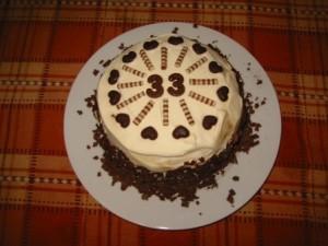 торт на 33 года