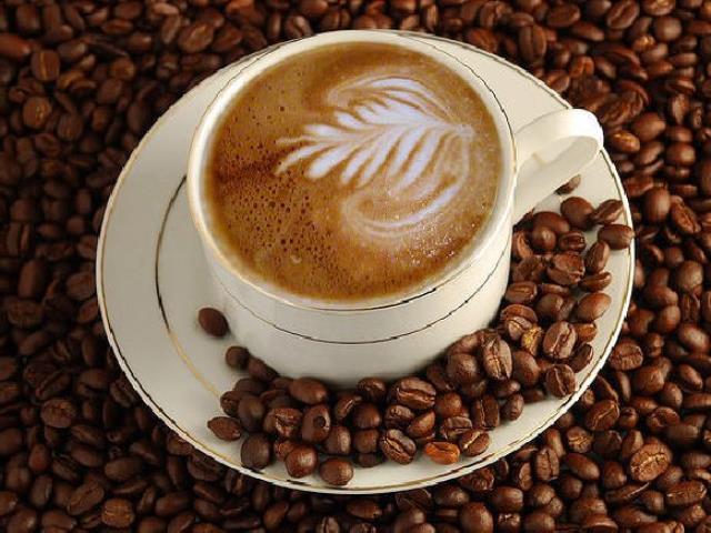 кофе с узором