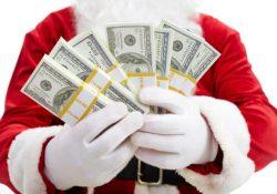 деньги у деда мороза