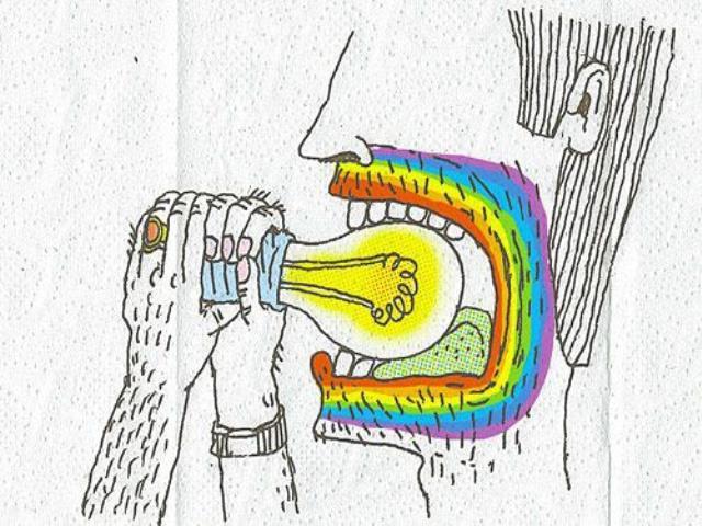 лампочка во рту