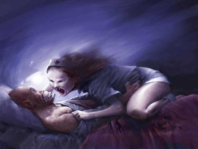 приведение ночью