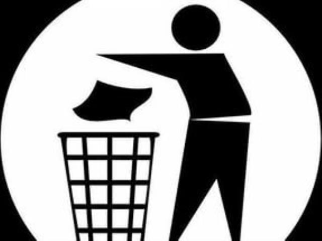 не выбрасывать мусор