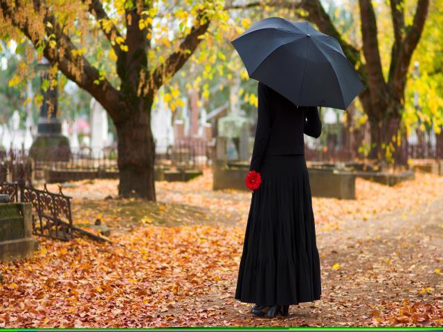 беременным на похороны и кладбище