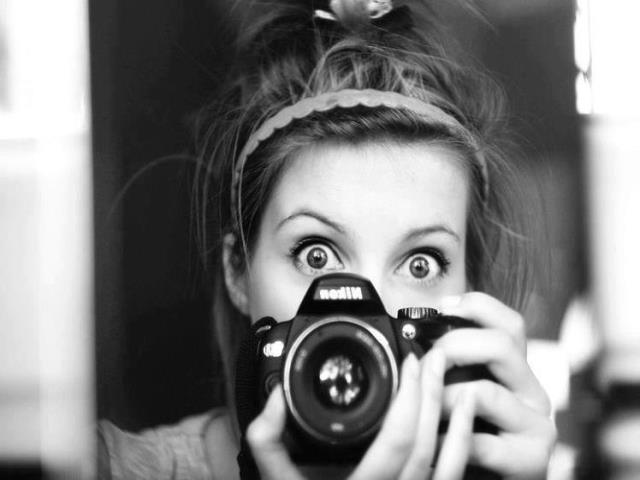 фото в зеркале девушка