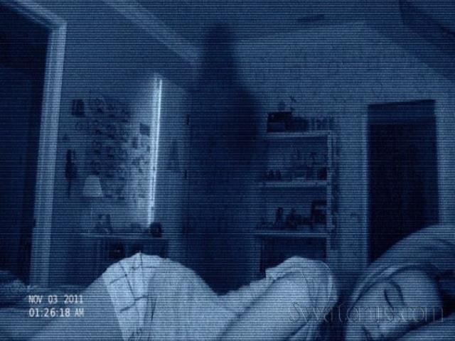 приведение ночью в темноте