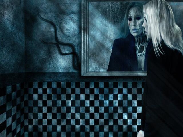 зеркало и привидение