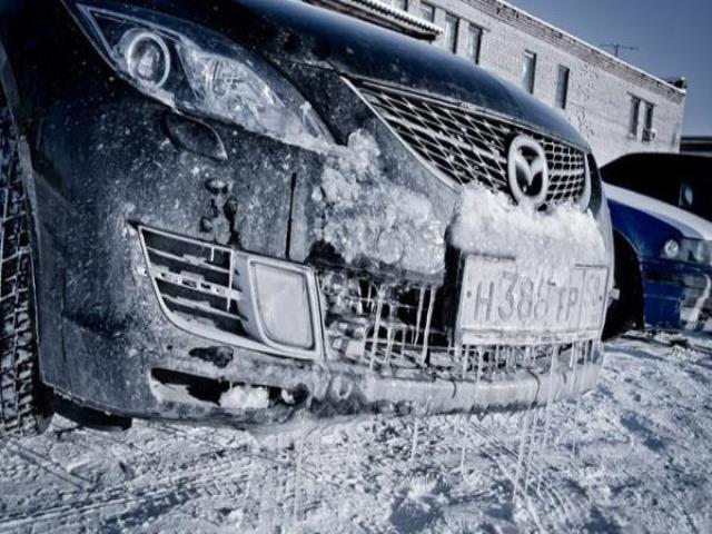 мыть машину мороз