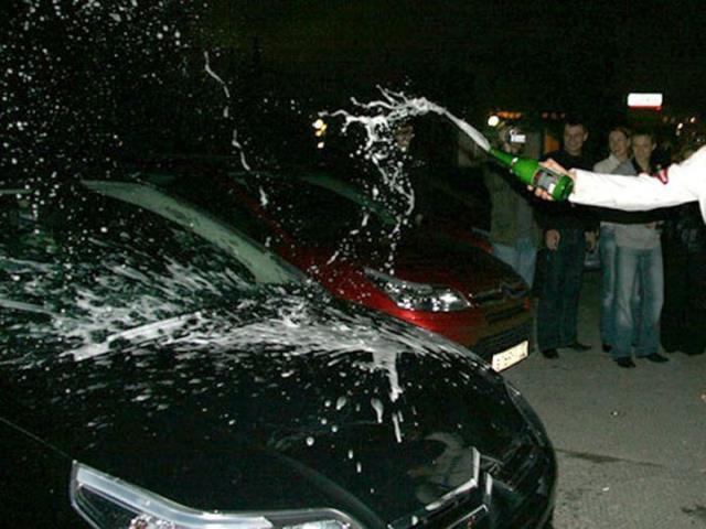 обмывать права на машину